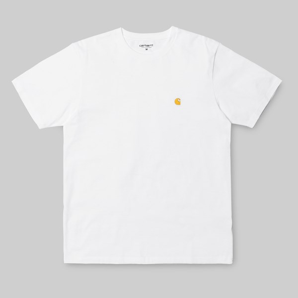CARHARTT CHASE SS T-SHIRT WHITE GOLD