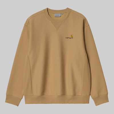 CARHARTT WIP AMERICAN SCRIPT SWEAT DUSTY BROWN