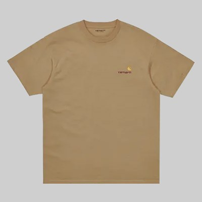 CARHARTT WIP SS AMERICAN SCRIPT T-SHIRT DUSTY BROWN