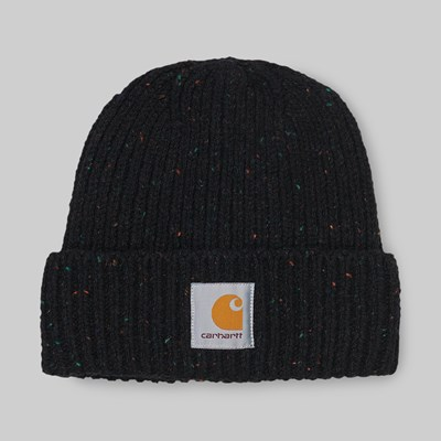 CARHARTT WIP ANGLISTIC BEANIE BLACK HEATHER