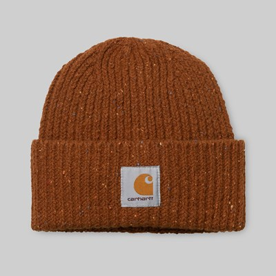 CARHARTT WIP ANGLISTIC BEANIE BRANDY HEATHER