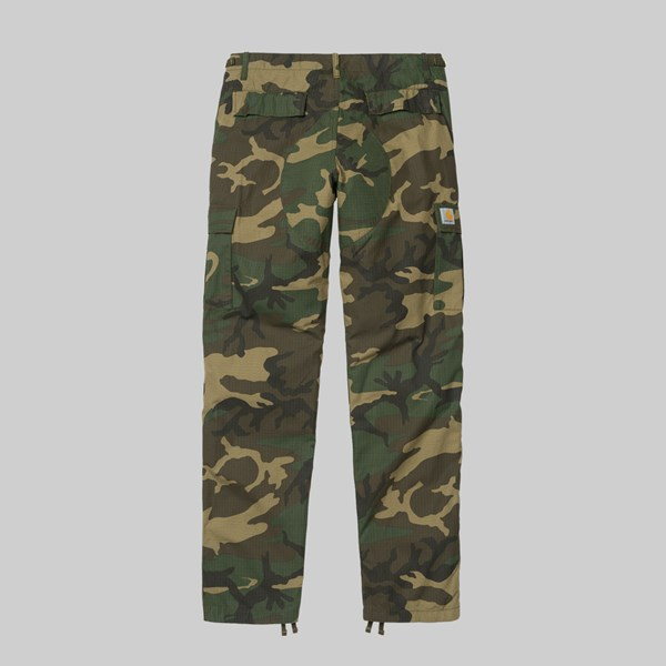 CARHARTT WIP AVIATION PANT CAMO LAUREL RINSED