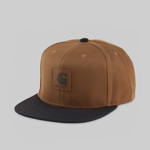 CARHARTT LOGO CAP BI-COLOUR HAMILTON BROWN BLACK
