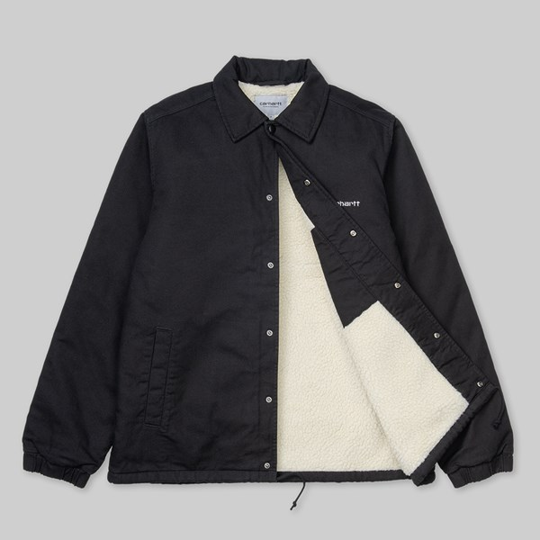 CARHARTT WIP CANVAS JACKET BLACK STONE WASHED