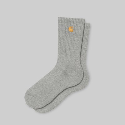 CARHARTT WIP CHASE SOCKS ELAS GREY HEATHER