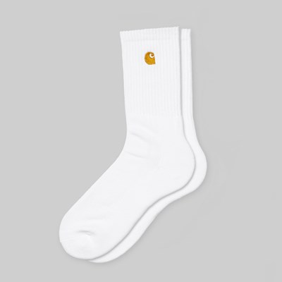 CARHARTT WIP CHASE SOCKS WHITE GOLD