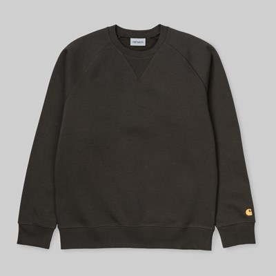 CARHARTT WIP CHASE CREW SWEAT CYPRESS GOLD