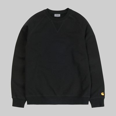 CARHARTT WIP CHASE CREW SWEAT BLACK GOLD