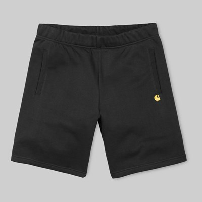 CARHARTT WIP CHASE SWEAT SHORT BLACK GOLD