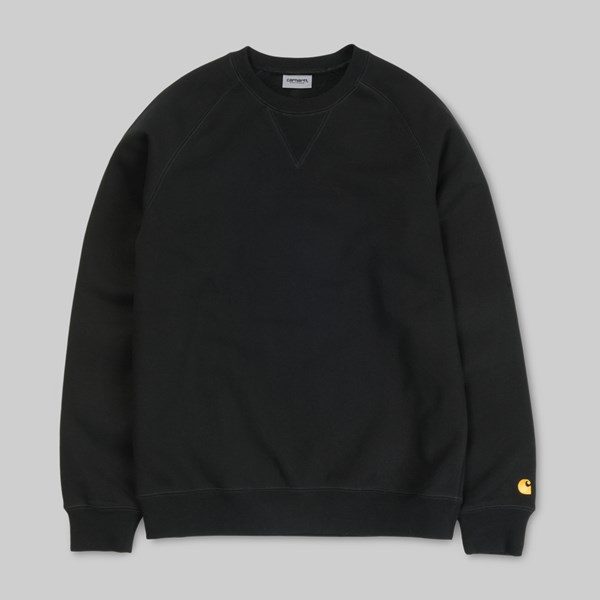CARHARTT WIP CHASE SWEAT BLACK GOLD