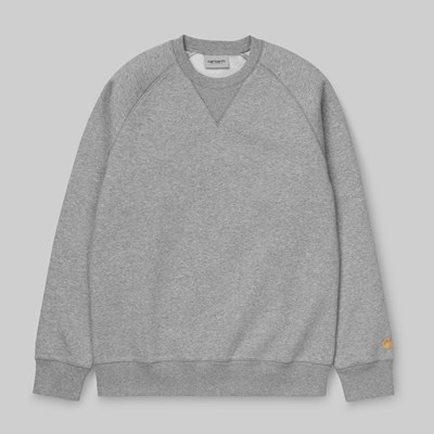 CARHARTT WIP CHASE SWEAT GREY HEATHER
