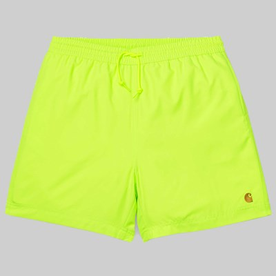 CARHARTT CHASE SWIM SHORTS LIME GOLD