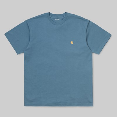CARHARTT WIP CHASE SS T-SHIRT MOSSA GOLD