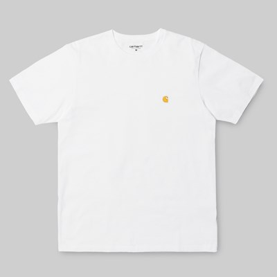CARHARTT WIP CHASE SS T-SHIRT WHITE GOLD