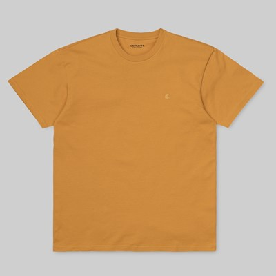 CARHARTT WIP CHASE SS T-SHIRT WINTER SUN GOLD