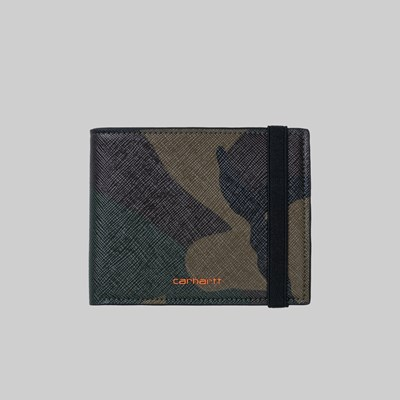 CARHARTT WIP COATED BIFOLD WALLET CAMO LAUREL