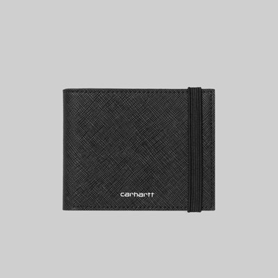 CARHARTT WIP COATED BIFOLD WALLET BLACK