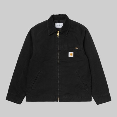 CARHARTT WIP DETROIT JACKET BLACK AGED CANVAS