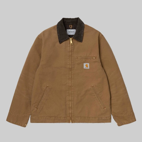 CARHARTT WIP DETROIT JACKET BROWN AGED CANVAS