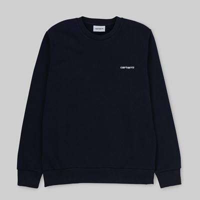 CARHARTT WIP SCRIPT EMBROIDERY SWEAT DARK NAVY