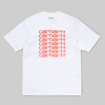 CARHARTT WIP SS FADING T-SHIRT WHITE POP CORAL