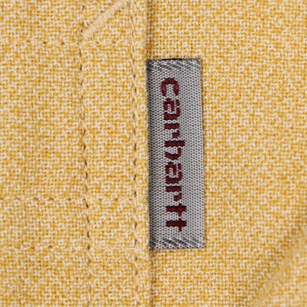 Carhartt Hermann Long Sleeve Shirt Sparrow Broken White Rinsed