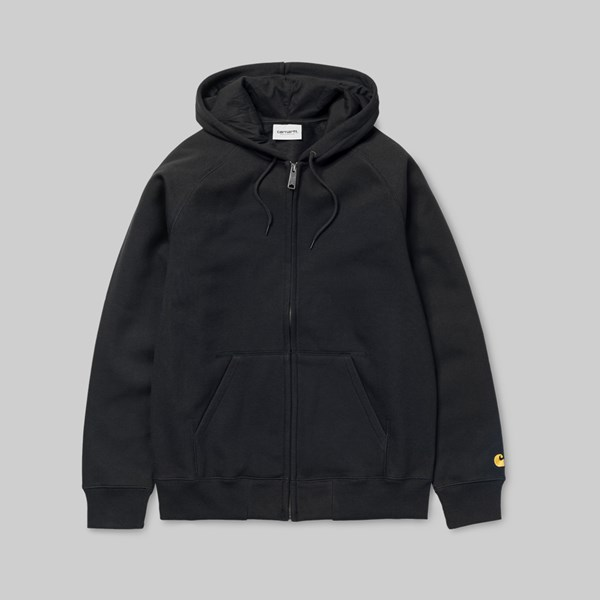 CARHARTT WIP HOODED CHASE JACKET BLACK GOLD