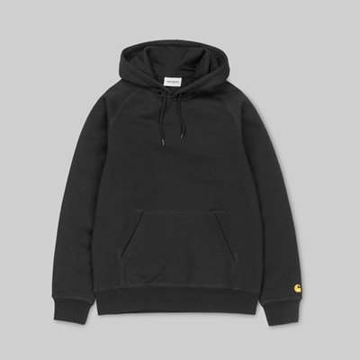CARHARTT WIP HOODED CHASE SWEAT BLACK GOLD