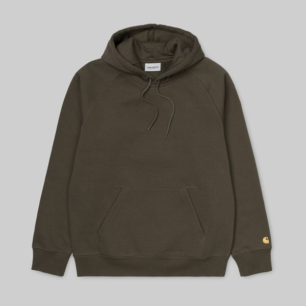 CARHARTT WIP HOODED CHASE SWEAT CYPRESS GOLD