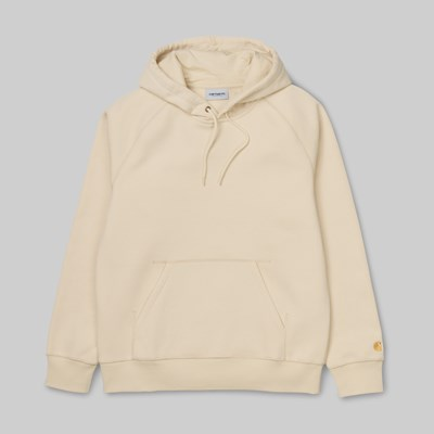 CARHARTT WIP HOODED CHASE SWEAT FLOUR GOLD