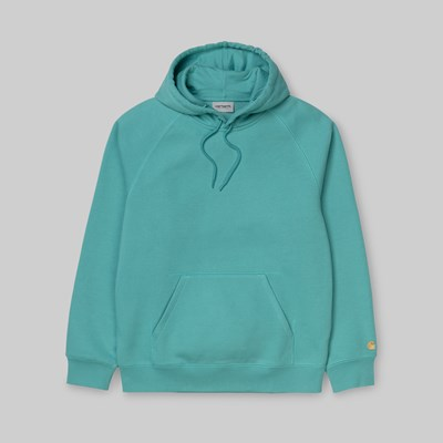 CARHARTT WIP CHASE HOODED SWEAT FROSTED TURQUOISE