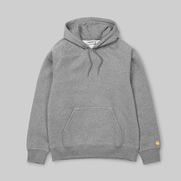 CARHARTT WIP CHASE HOODED SWEAT GREY HEATHER