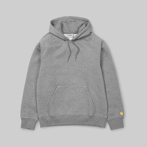 CARHARTT WIP HOODED CHASE SWEAT GREY HEATHER