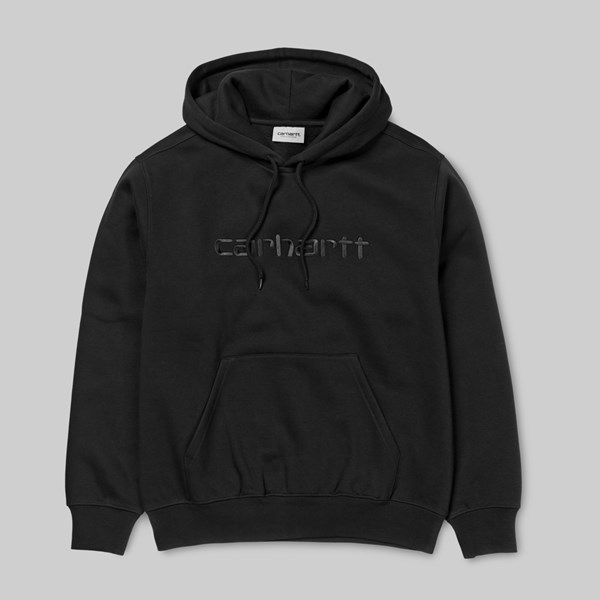 CARHARTT WIP HOODED SWEAT BLACK BLACK