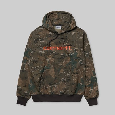 CARHARTT WIP HOODED SWEAT CAMO COMBI ORANGE