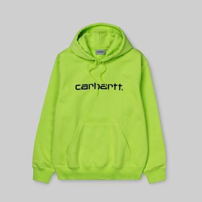 CARHARTT WIP HOODED SWEAT LIME BLACK