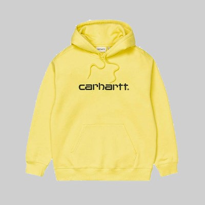 CARHARTT WIP HOODED SWEAT LIMONCELLO BLACK