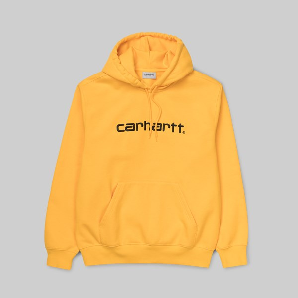 CARHARTT WIP HOODED SWEAT SUNFLOWER BLACK