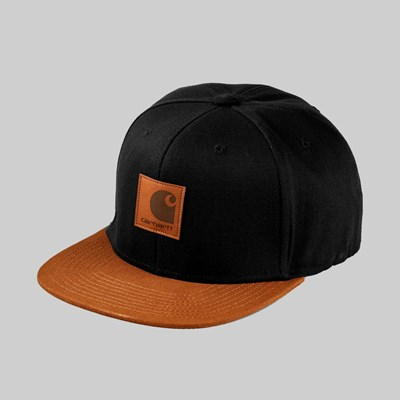 CARHARTT WIP LOGO CAP BI-COLOURED BLACK BROWN