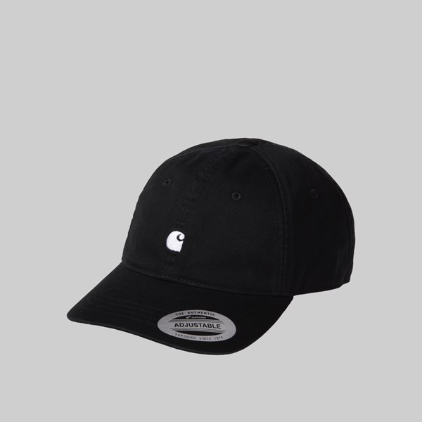 CARHARTT WIP MADISON LOGO CAP BLACK WHITE