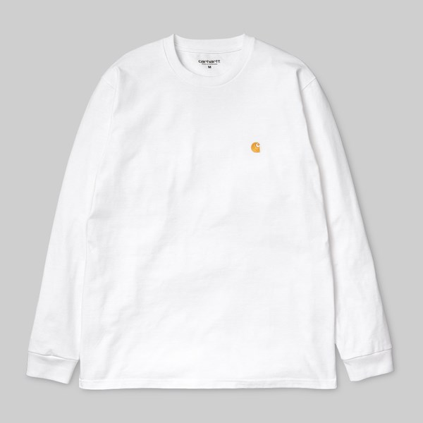 CARHARTT WIP CHASE LONG SLEEVE TEE WHITE GOLD