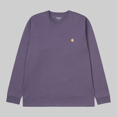 CARHARTT WIP LS CHASE T-SHIRT PROVENCE GOLD