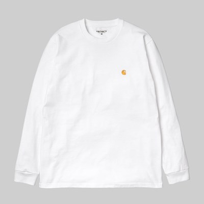 CARHARTT WIP LS CHASE T-SHIRT WHITE GOLD