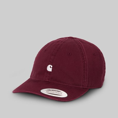 CARHARTT WIP MADISON LOGO CAP BORDEAUX WAX