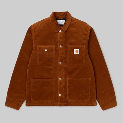 CARHARTT WIP MICHIGAN COAT BRANDY RINSED