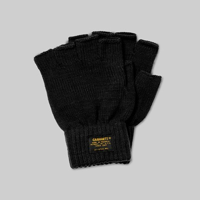CARHARTT WIP MILITARY MITTEN GLOVES BLACK