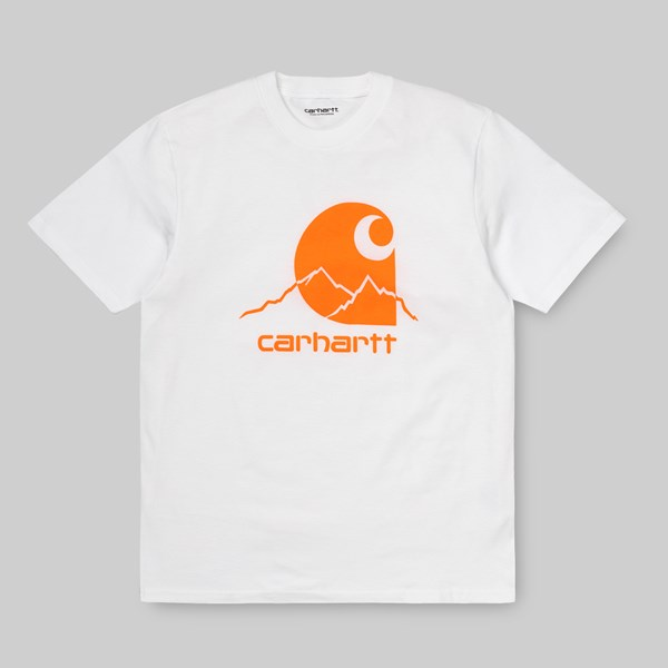 CARHARTT WIP SS OUTDOOR T-SHIRT WHITE POP ORANGE