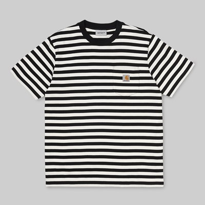 CARHARTT WIP PARKER SS POCKET TEE STRIPE BLACK WAX