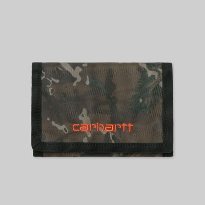CARHARTT WIP PAYTON WALLET CAMO SAFETY ORANGE