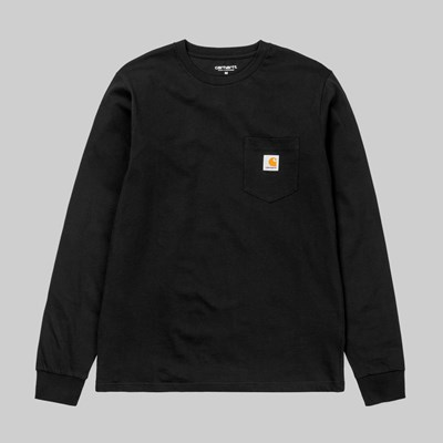 CARHARTT WIP LONG SLEEVE POCKET T-SHIRT BLACK